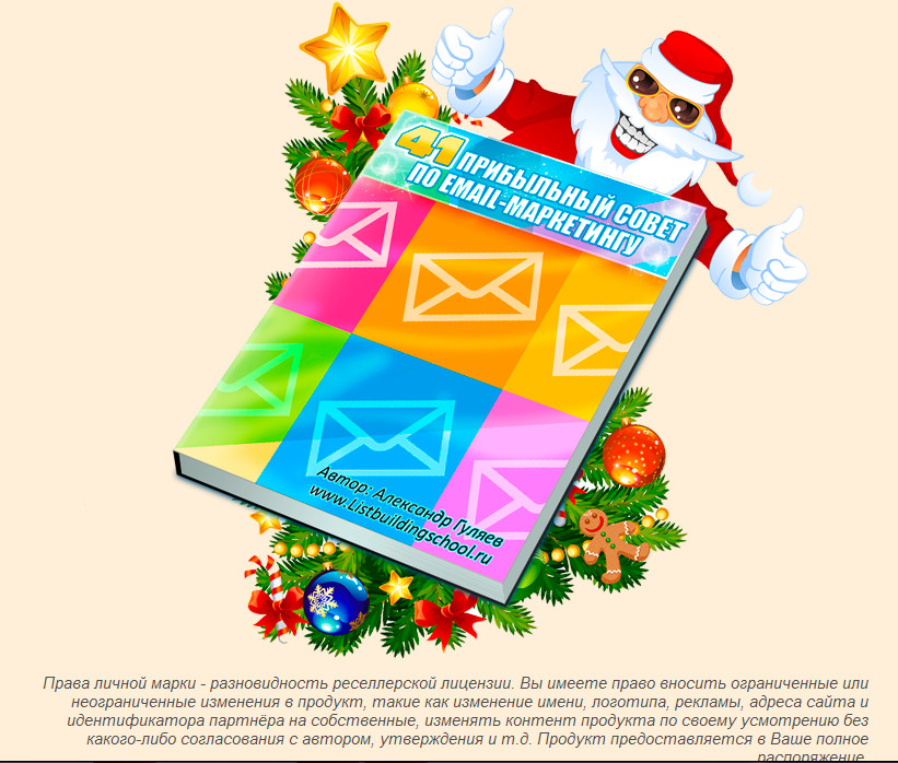 "The book ""Profitable advice on e-mail marketing"""