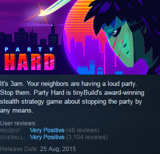 Party Hard (Steam KEY / ROW / Region free / Global)