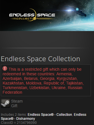 Endless Space Collection (Steam gift / RU / CIS)