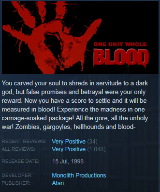 Blood: One Unit Whole Blood (Steam KEY / Region free)