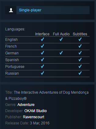The Interactive Adventures of Dog Mendonça & Pizza