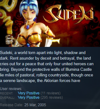 Sudeki (Steam KEY / ROW / Region free)