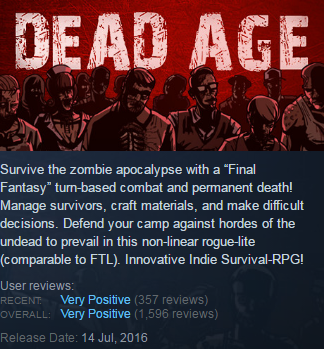 Dead Age (Steam KEY / ROW / Region free / Global)