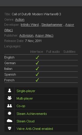 Call of Duty: Modern Warfare 3 (Steam KEY /Region Free)