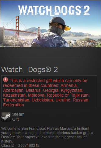 Watch Dogs 2 (Steam gift / RU/CIS)