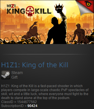H1Z1: King of the Kill (Steam gift / ROW / Region free)