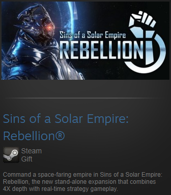Sins of a Solar Empire Rebellion Steam gift/Region free