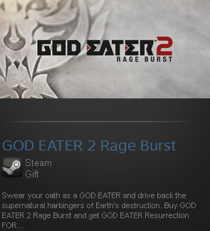 GOD EATER 2 Rage Burst (Steam gift / ROW / Region free)