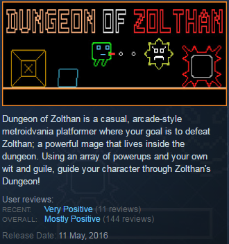 Dungeon of Zolthan (Steam KEY / Region free / Global)