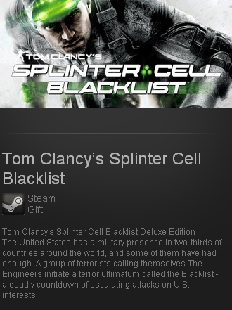 Splinter Cell Blacklist Deluxe (Steam gift Region free)