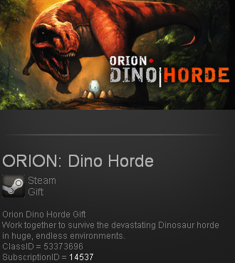 ORION: Dino Horde (Steam gift / ROW / Region free)