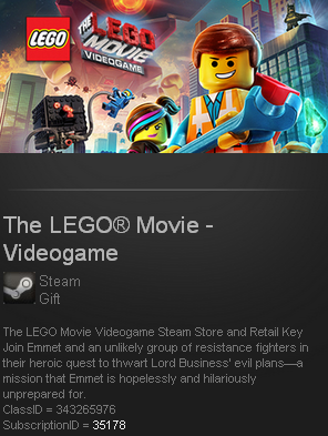 The LEGO® Movie - Videogame (Steam gift / ROW/Reg free)