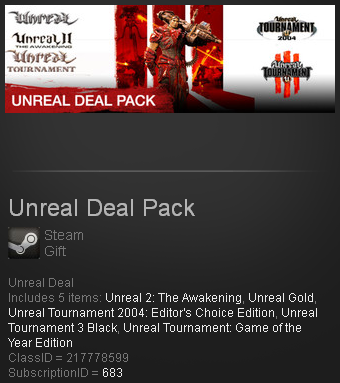 Unreal Deal Pack (Steam gift / ROW / Region free)