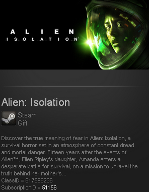 Alien: Isolation (Steam gift / ROW / Region free)