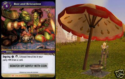 Picnic Basket-Rest and Relaxation LOOT Card WoW