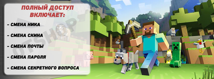 MINECRAFT PREMIUM+EMAIL CHANGE+FULL ACCESS+CHANGE NICK