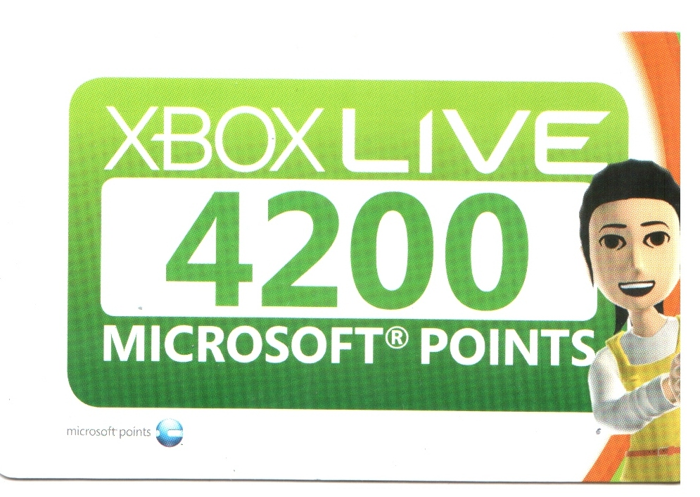 XBOX LIVE - 4200 MS Points Card  (EUR/RUS)-(SCAN)