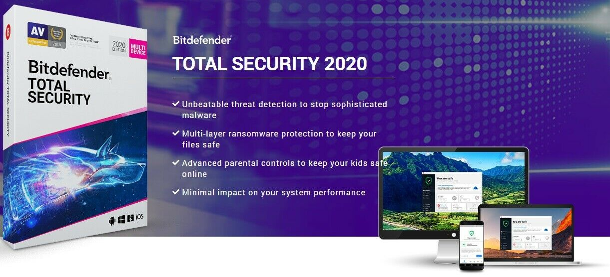 Bitdefender Total Security subscription until 16 Sep 20