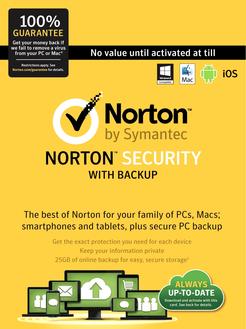 Norton Security Premium 3 months 10 PC Not Activated