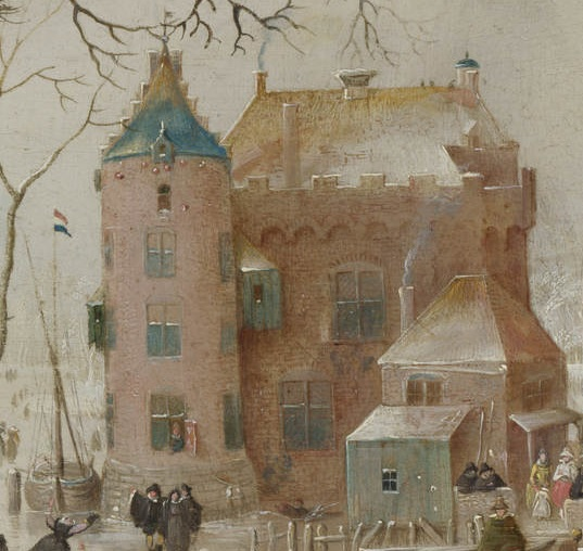 The architecture in the paintings by Hendrick Avercamp