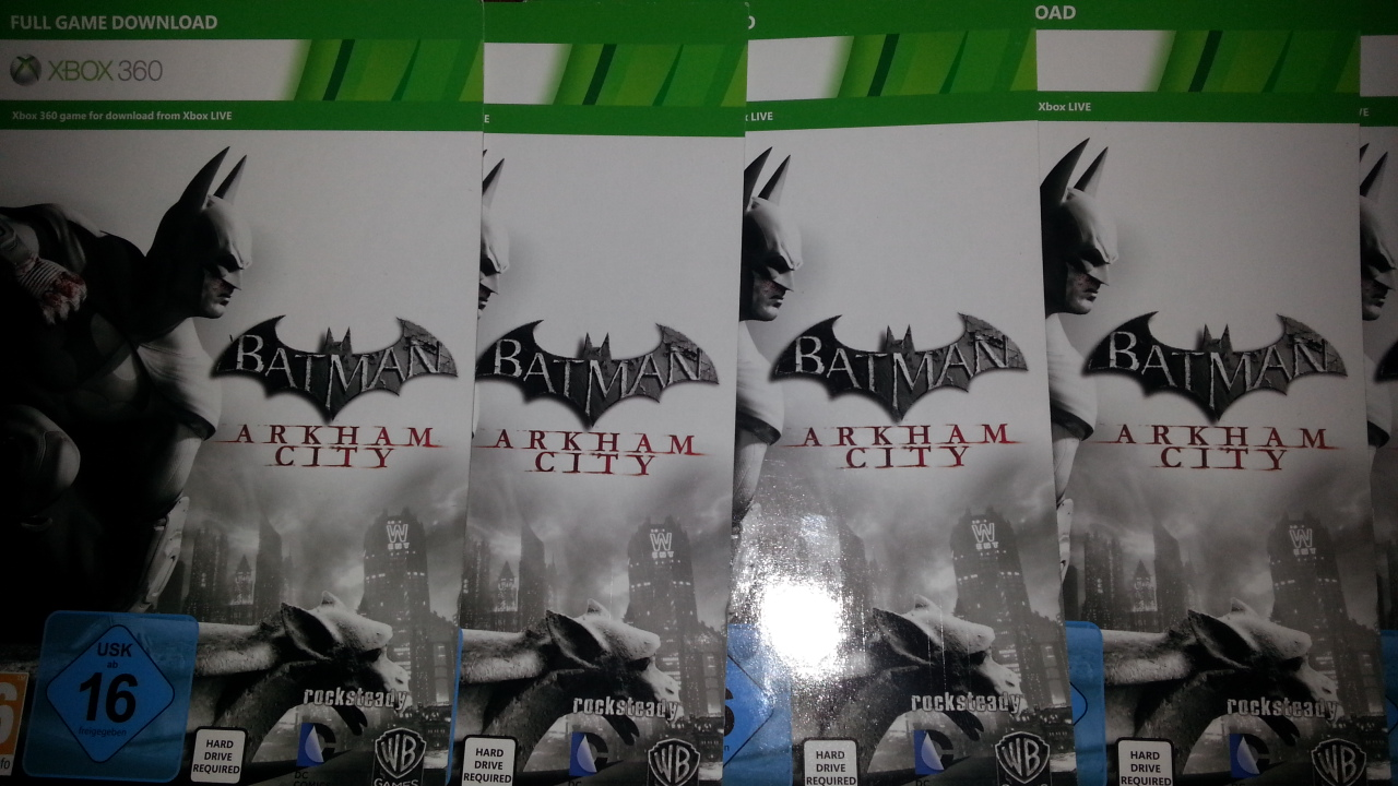 Batman Arkham city code to Xbox 360 region EU / RU