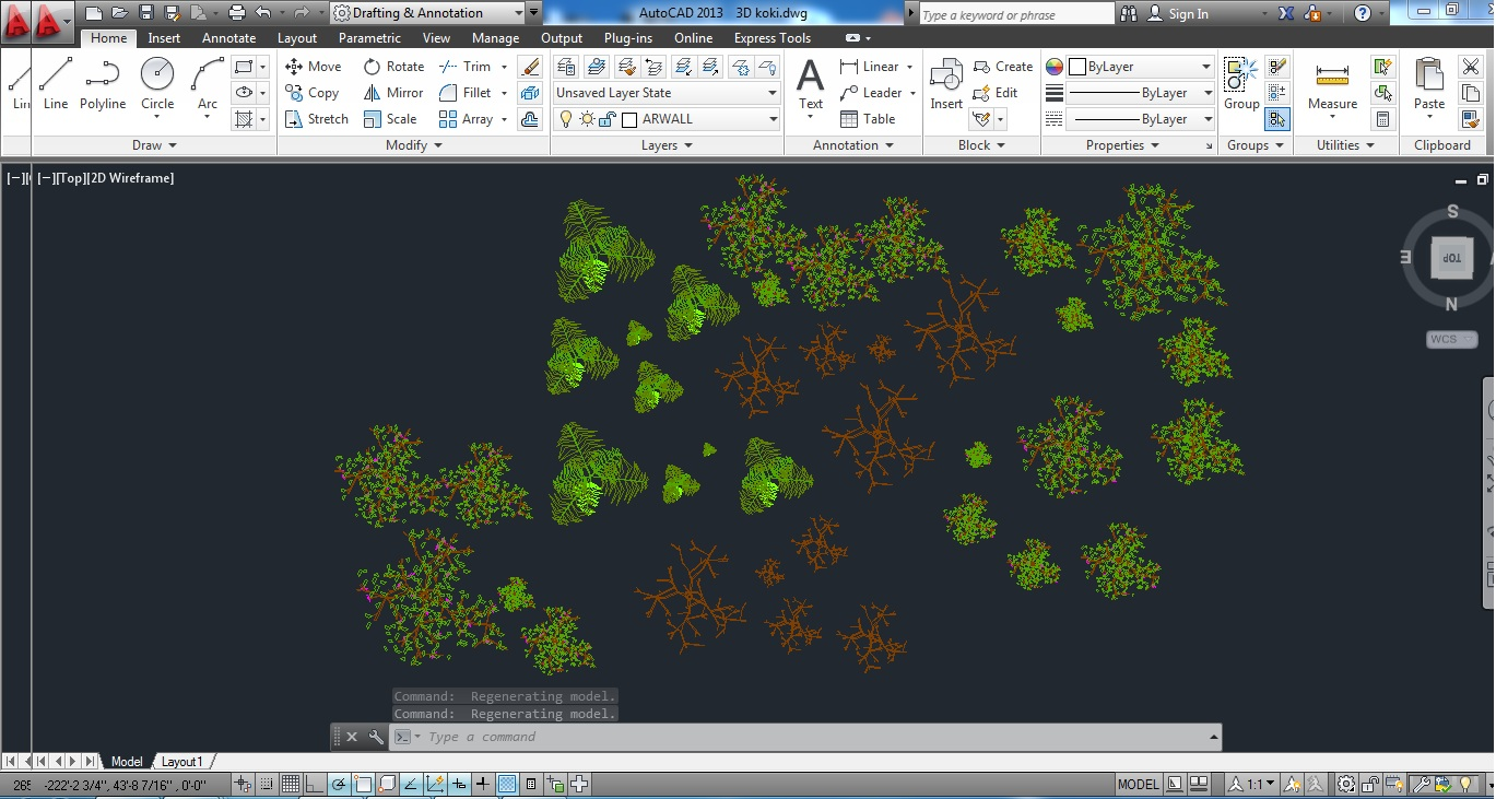 3D models of trees for Autocad