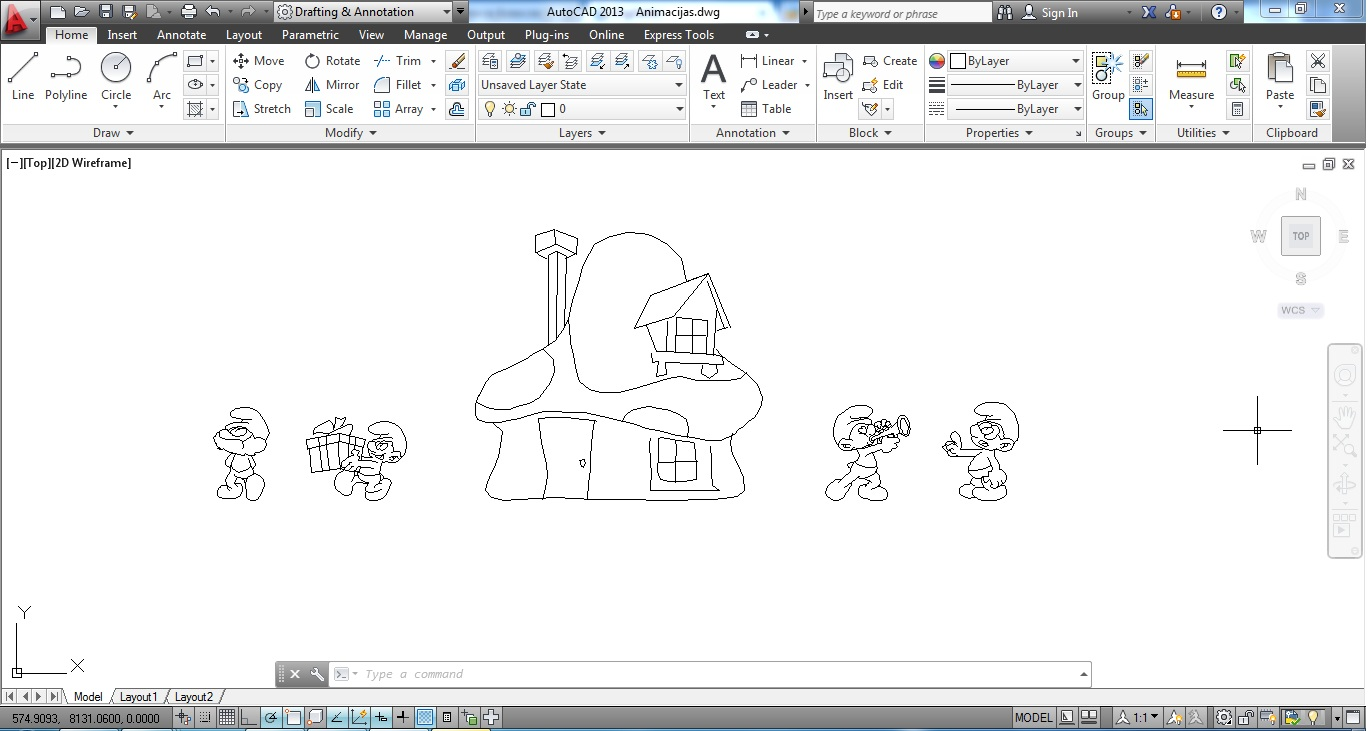 Model Smurfs for AutoCad