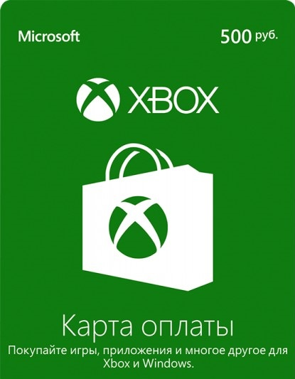 Xbox Live - 500 rubles card payment