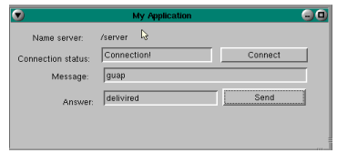 "Graphical application ""client"" / ""server"" for the QNX 4.25"