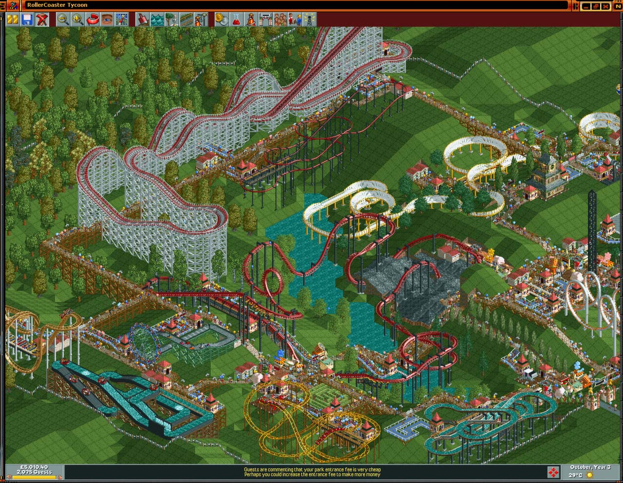 RollerCoaster Tycoon: Deluxe (Steam Key, GLOBAL)