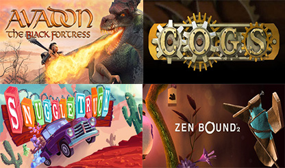 Avadon: The Black Fortress+Cogs+Snuggle Truck+Zen Bound