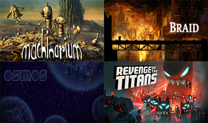 Machinarium+Braid+Osmos+Revenge of the Titans STEAMKEY