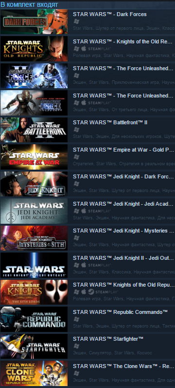 Star Wars Collection  (Steam Gift/RU+CIS) + BONUS
