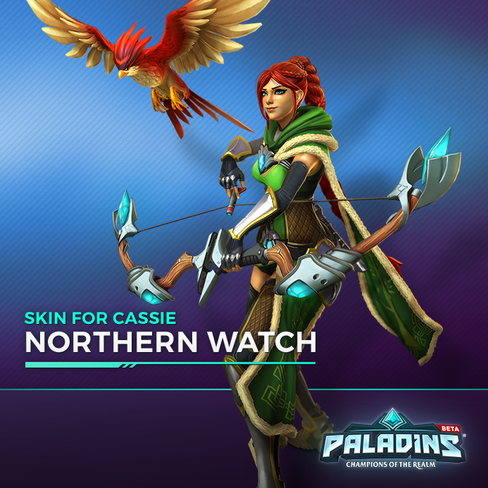 Paladins: Cassie Hero + Northen Watch Skin Key