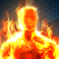 MARVEL HEROES OMEGA - HUMAN TORCH ( hero )