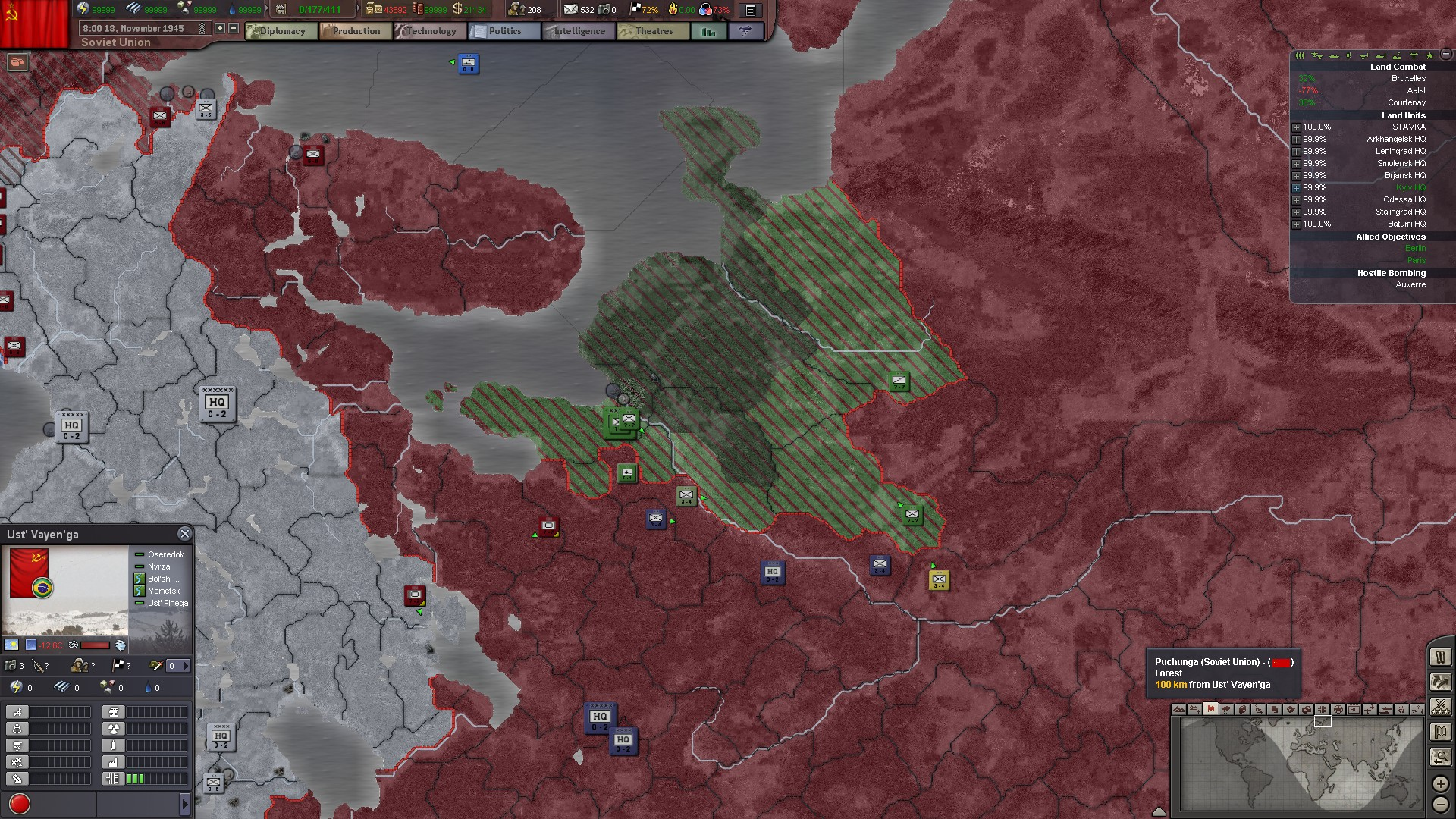 Hearts of Iron 3 III (Steam Key, RU+CIS)
