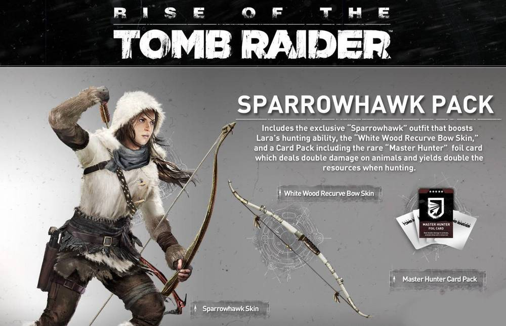 DLC SPARROWHAWK -Rise Of The Tomb Raider
