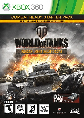 XBOX 360 WORLD OF TANKS COMBAT READY STARTER PACK (KEY)