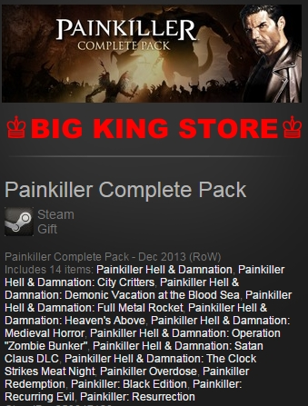 Painkiller Complete Pack — Steam Gift — REGION FREE