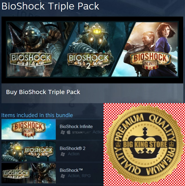 BioShock Triple Pack — STEAM GIFT