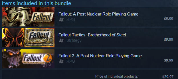FALLOUT Classic Collection — STEAM GIFT — REGION FREE