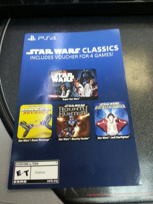 Star wars CLASSICS PS4 Collection 4 Game (for USA)