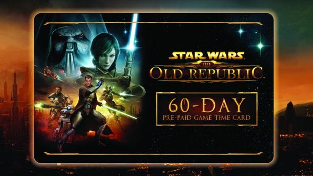 SWTOR TIME CARD 60 day + 525 Cartel Coins + 2 GIFT