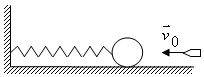 47. On a smooth horizontal table is the ball mass M, at