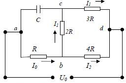 20. Find the charge on the capacitor in the circuit sho