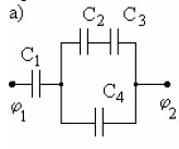 43. a capacitor with capacitance C1 = C2 = C4 = 2 micro
