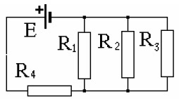 48. In this diagram (Fig.) Battery emf equal to E = 100