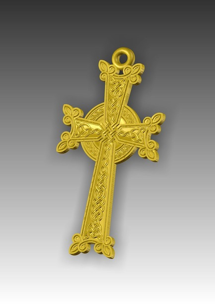 Direct reference to the 3d model  the Armenian cross