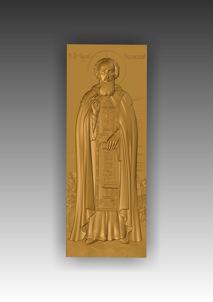 Direct link to the 3d model of Sergius of Radonezh (in