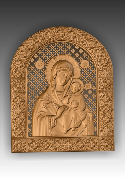 Direct link to the 3d model STL perennial Mother of God